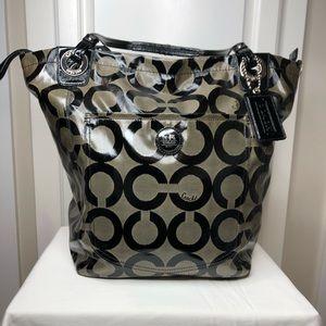 Coach Patent Leather Monogram Tote / Shopper